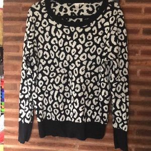 Halogen animal print sweater. Gently used cond.